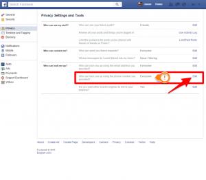 facebook phone privacy 2