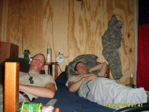 Jason & Leb watching TV